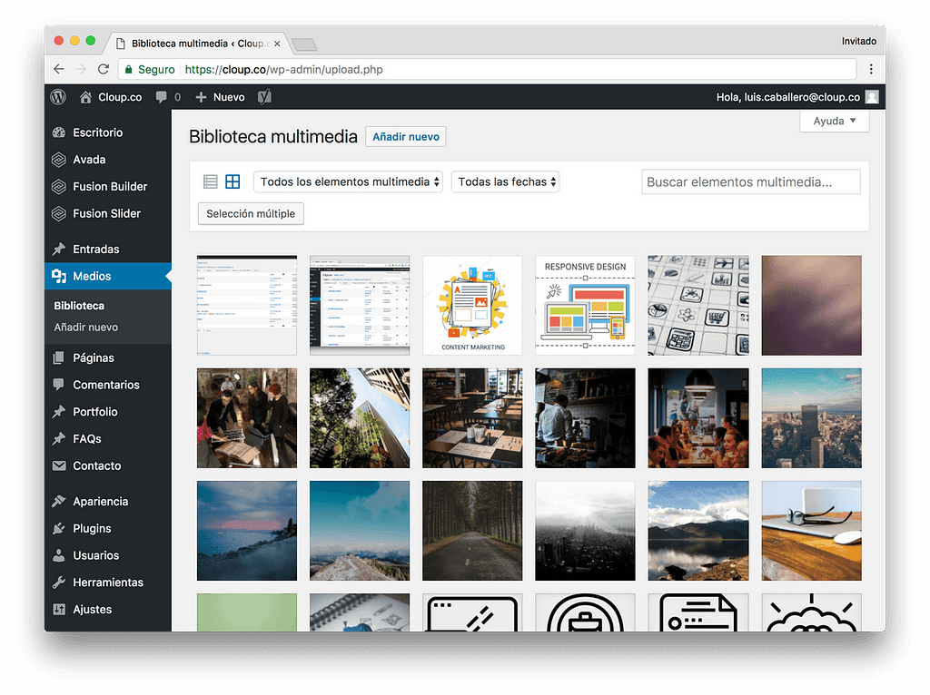 Administrador de Contenidos - WordPress