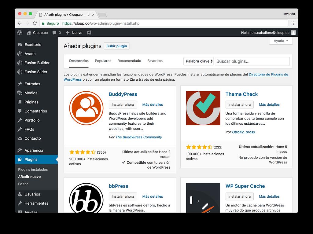 Plugings WordPress